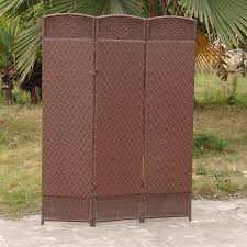 Outdoor Room Dividers Outdoor Indoor Woven Resin 4 Panel Room Divider Hayneedle