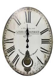 Parisian Home Decor Accessories Vintage Retro Classic Print Oval Wall Clocks Home Decor Accessories