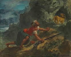 Delacroix Meme - eugène delacroix french 1798 1863 arab stalking a lion
