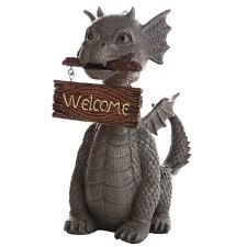 dragon home decor welcoming garden dragon statue 13 inch resin dragon statue