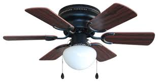 Hugger Ceiling Fan With Light by Oil Rubbed Bronze 30
