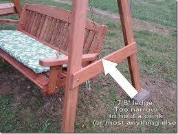 How To Make A Wooden End Table by How To Make End Tables For A Wooden Garden Swing U2013 Ricky Spears U0027 Blog