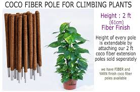 coco fiber extendable climber pole for creepers and climbing