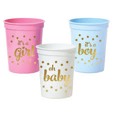 party cups gold baby shower party cups set or 25