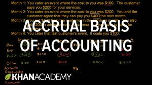 accrual basis of accounting finance u0026 capital markets khan