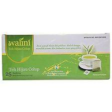 Teh Walini tong tji green tea 25 ct 50 gram envelope teh celup kantong hijau