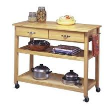 Kitchen Carts Home Depot by Home Styles Natural Kitchen Cart With Storage 5216 95 The Home Depot