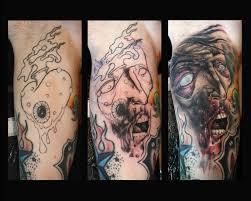 another zombie cover up by tim pangburn tattoonow