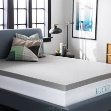 amazon com lucid 3 inch bamboo charcoal memory foam mattress