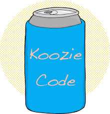 cartoon beer can the sfa take s five koozie code southern foodways alliance