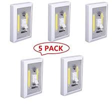 cob led wireless night light with switch 5 pack cob led wall switch wireless closet cordless night light