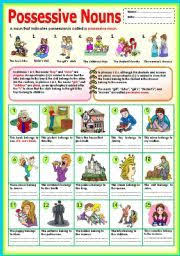 english teaching worksheets possessive nouns possessive nouns