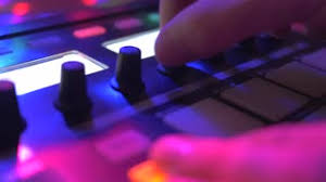 Mixing Table 4k Dj Mixing Table Closeup At Night Club Stock Video Footage