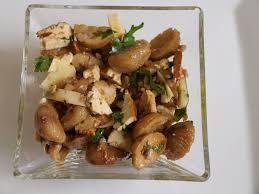 chataignes recettes cuisine salade de châtaignes au tofu fumé coriandre a boire et à manger
