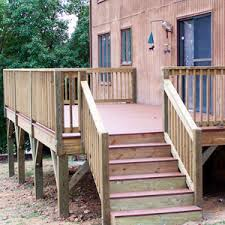 Decking Kits With Handrails Should You Build Your Deck From Wood Or Plastic