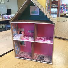 cardboard cutaway house making beds art projects for kids