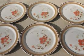 vintage hearthside japan stoneware dishes retro water colors