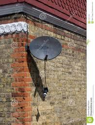 broken satellite dish stock photos image 31811443