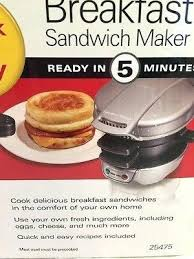 How To Use Hamilton Beach Breakfast Sandwich Maker Beach Breakfast