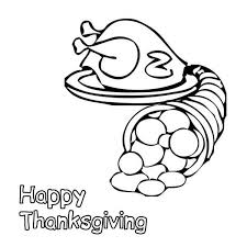 a of cornucopi and canada thanksgiving day turkey coloring