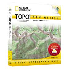 New Mexico Topographic Map by Topo New Mexico National Geographic Store