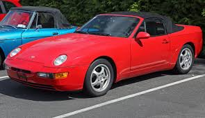 red porsche convertible file 1995 porsche 968 convertible in red front left jpg
