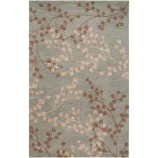 Blue Wool Rug 8x10 Hand Tufted Blossom Blue Floral Wool Rug 8 U0027x10 U0027 Free Shipping