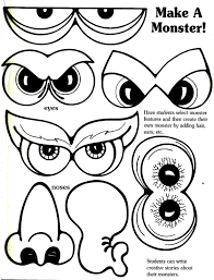 Halloween Printable Cutouts by Printable Monster Face Cut Outs Yahoo Image Search Results