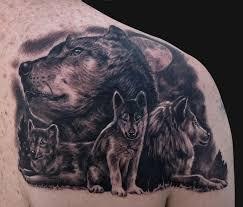 wolf family tattoos 3d designs design idea