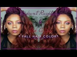 black hair to raspberry hair radiant raspberry red copper fall hair color youtube