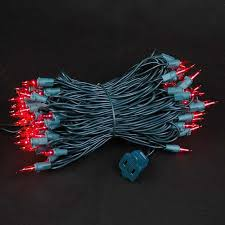 10 mini light string red christmas mini light sets 100 light green wire connect 10