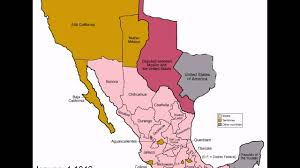 Mexico States Map by 1824 Mexico States Evolution Youtube