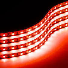 cheap led light strips amazon com zone tech 30cm flexible waterproof red light strips 4