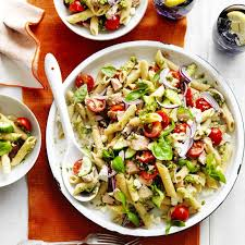 pasta salad with tuna tuna and pesto pasta salad recipe myfoodbook pasta salad recipe