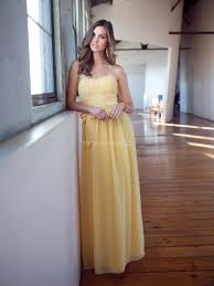 discount bridesmaid dresses us 139 99 daffodil strapless chiffon floor length inexpensive