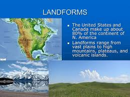 map us landforms bell ringer take out us and canada blank map ppt