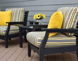 Sunbrella Rocking Chair Cushions Poly Lumber Classic Terrace Chair W Sunbrella Cushions