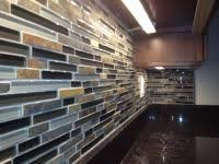 kitchen backsplash glass and slate with uba tuba granite counters