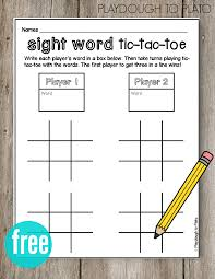 Learning To Write Abc Worksheets Abc Tic Tac Toe Playdough To Plato