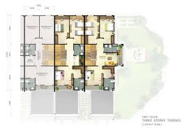 download single story terrace house plans adhome