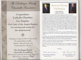 program booklets catholic charities of los angeles inc ola region 2011 fundraiser