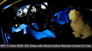 Car Interior Leds Sound Active 7 Color Rgb Led Car Interior Lighting Kit Part 3