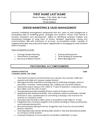 Senior Resume Template Senior Marketing And Sales Manager Resume Template Premium