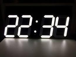 wall clock modern big 3d digital led wall clock modern design timer alarm clock