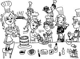 coloriage cuisine coloriage cuisinier les beaux dessins de personnages à imprimer