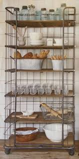 Kitchen Storage Shelves by Best 10 Rustic Bakers Racks Ideas On Pinterest Industrial