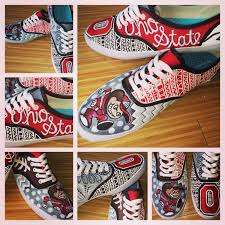 Osu Umbrellas by Custom Painted Ohio State Shoes