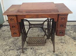 Antique Singer Sewing Machine And Cabinet Singer Sewing Machine Model Vintage Antique 7 Drawer Wood Treadle