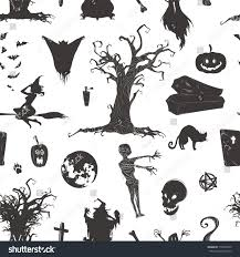 halloween magic collection witch attributes creepy stock vector