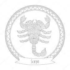 horoscope symbol scorpio u2014 stock vector svitlana samokhina
